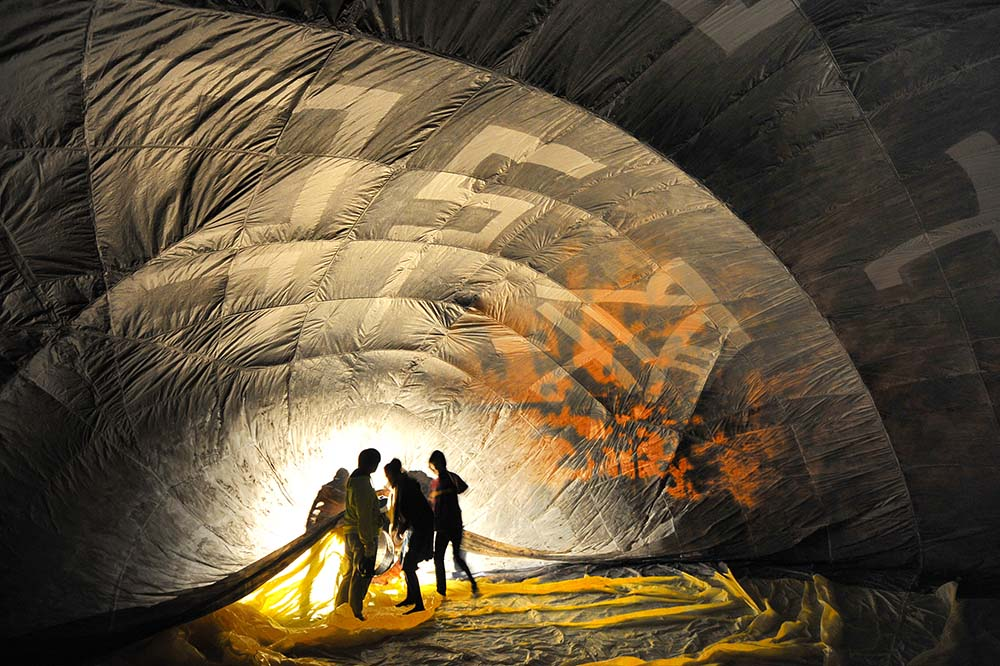熱気球の内側。「学園祭2016」