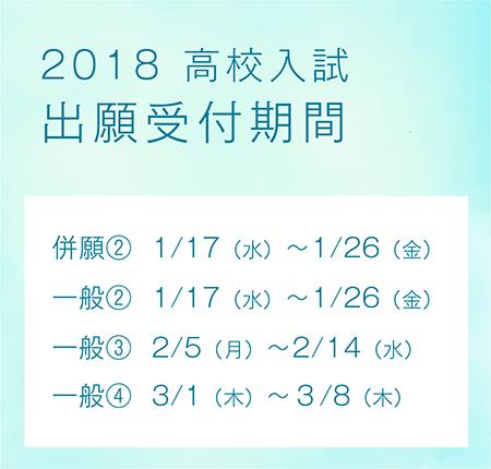 2018 高校入試