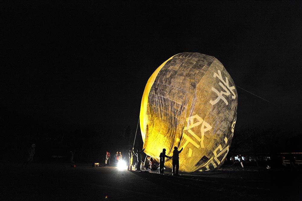 熱気球、今年は残念ながら後夜祭では上がらず