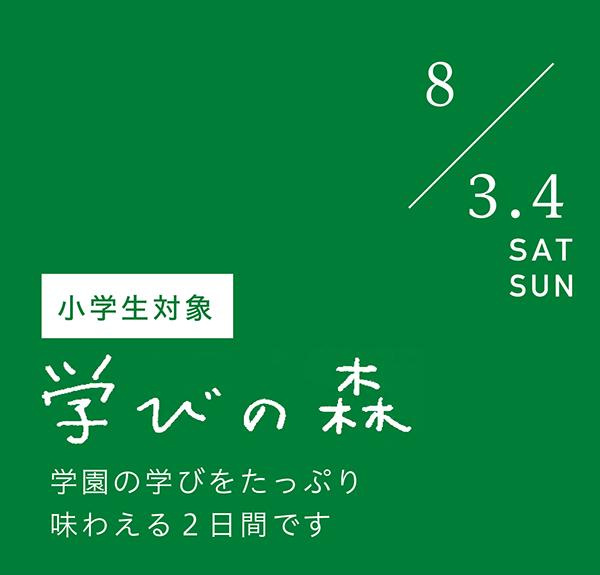 2019/8/3・4 学びの森2019(小学生対象)